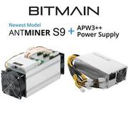 Bitman Antminer S9 Bitcoin Miner 14TH/S + PSU